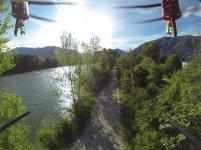 widok z kamery drona